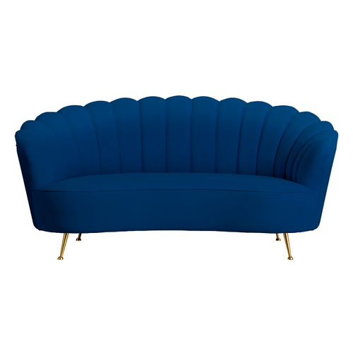 Navy Shell 2 Seater Sofa
