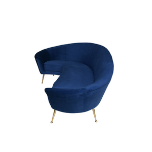 Monroe Curved Sofa - Navy