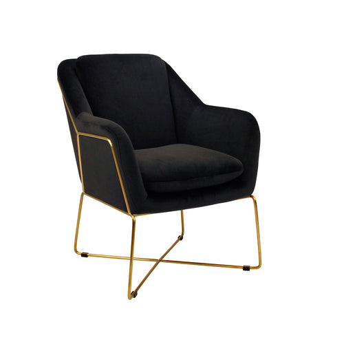 Milan Armchair - Black-Find It Style It Home