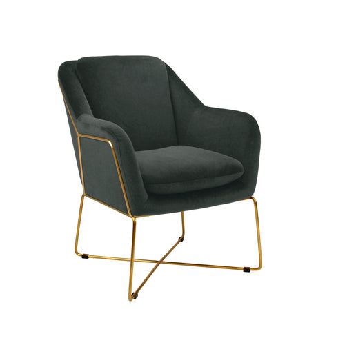 Milan Armchair - Charcoal-Find It Style It Home