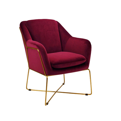 Milan Armchair - Marsala-Find It Style It Home