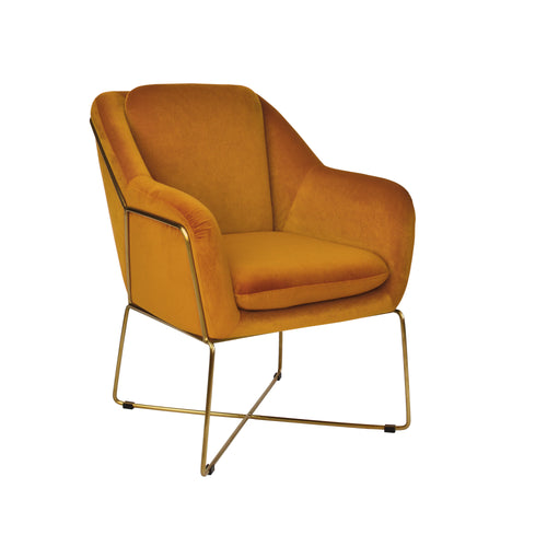 Milan Armchair - Dark Amber-Find It Style It Home