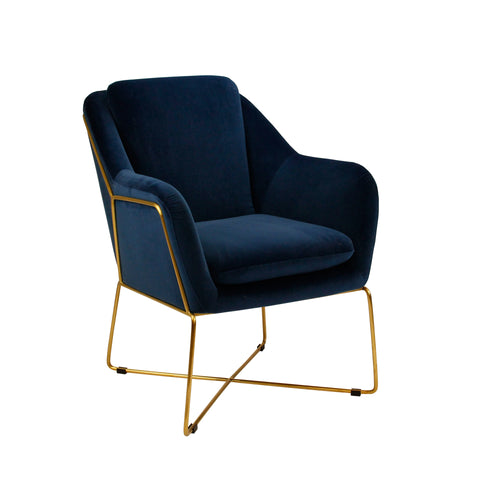 Milan Armchair - Navy-Find It Style It Home