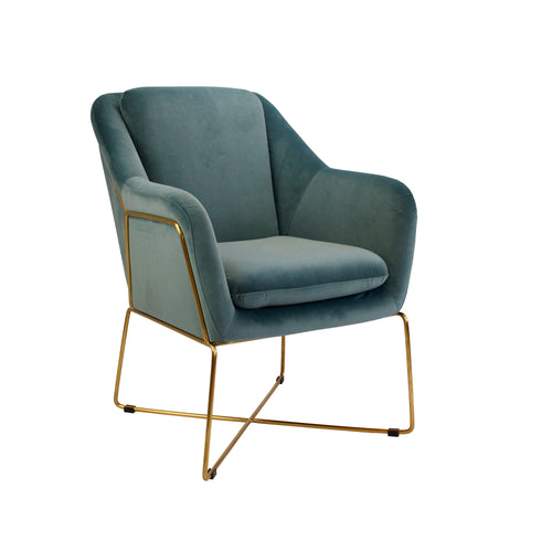 Milan Armchair - Steel Blue-Find It Style It Home