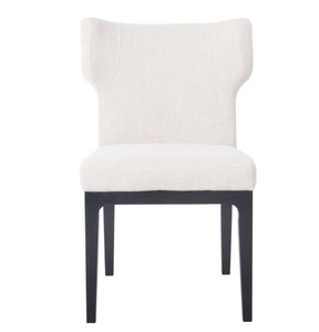 Dover Black Dining Chair - Natural Linen-Find It Style It Home