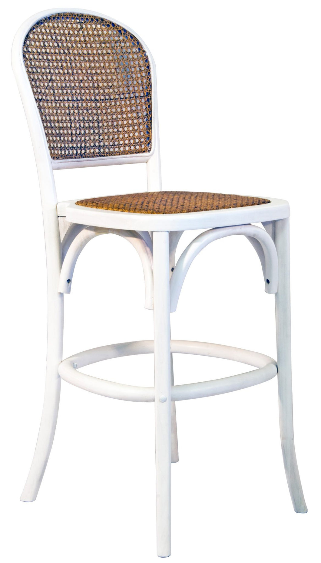 Dunbar Rattan Stool - White-Find It Style It Home