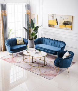 Shell 2 Seater Sofa in Navy