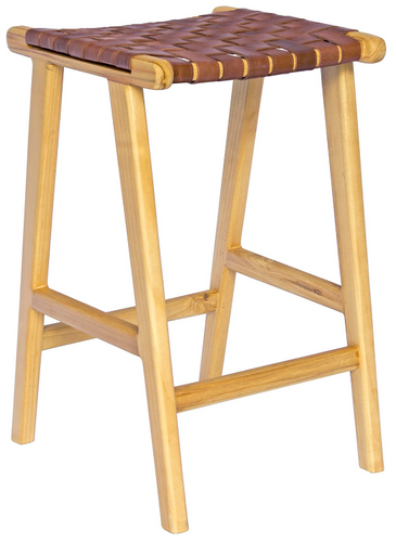 Lefroy Stool - Natural & Brown