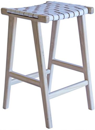 Lefroy Stool - Light Natural & White-Find It Style It Home