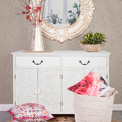 Lace Sideboard- Antique Creme