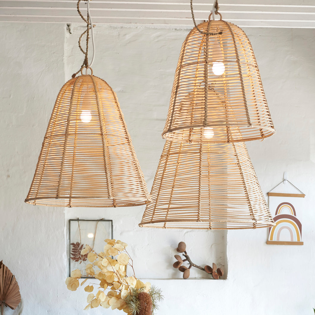 Orli Rattan Light Shade - Set of 3-Find It Style It Home