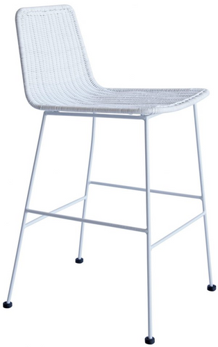 Park Rattan Stool - White-Find It Style It Home