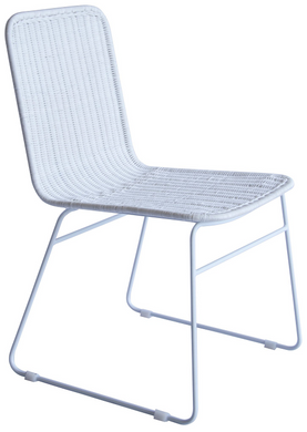 The Park Rattan Dining Chair - White