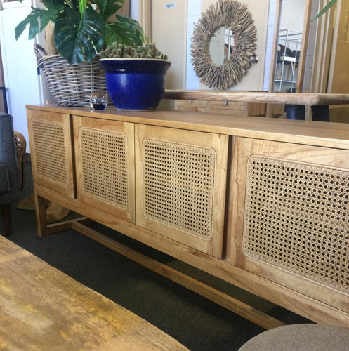 Tiki Rattan Sideboard - Natural