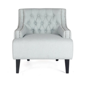 Tufted Occasional Chair - Ice Blue