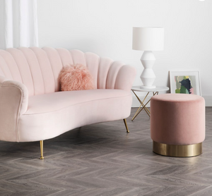 Shell 2 Seater Sofa - Rose Water