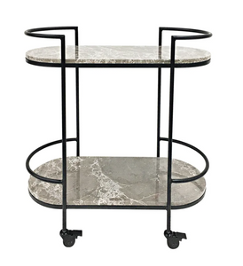 Avoca Marble Bar Cart / Drinks Trolley
