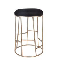 Palmer Kitchen Stool - Black Linen
