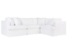 Lincoln Slip Cover Modular Sofa - White Linen Option 1-Find It Style It Home