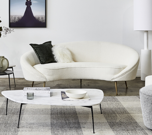 Benoit Sofa - Boucle Ivory-Find It Style It Home