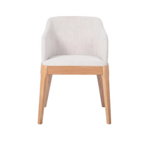 April Natural Dining Chair - Natural Linen-Find It Style It Home
