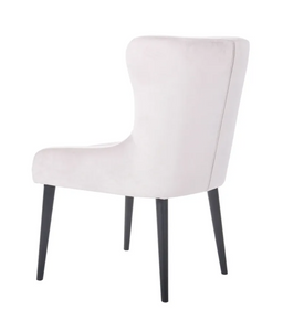 York Black Dining Chair - Silver Velvet-Find It Style It Home