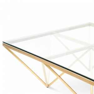 Coffee Table - Brushed Gold Base