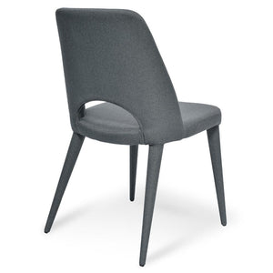 Fabric Dining Chair - Gunmetal Grey-Find It Style It Home