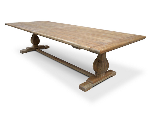Dining Table 3m - Rustic Natural