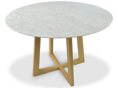 Marble Round Dining Table - Natural