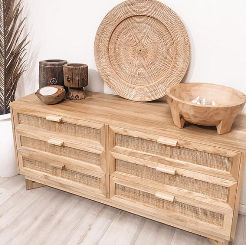 Seville Rattan Drawers