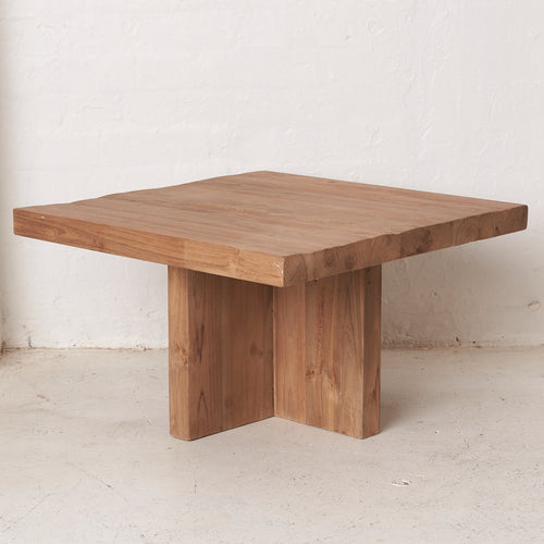 Ines Rustic Teak Coffee Table - Large-Find It Style It Home