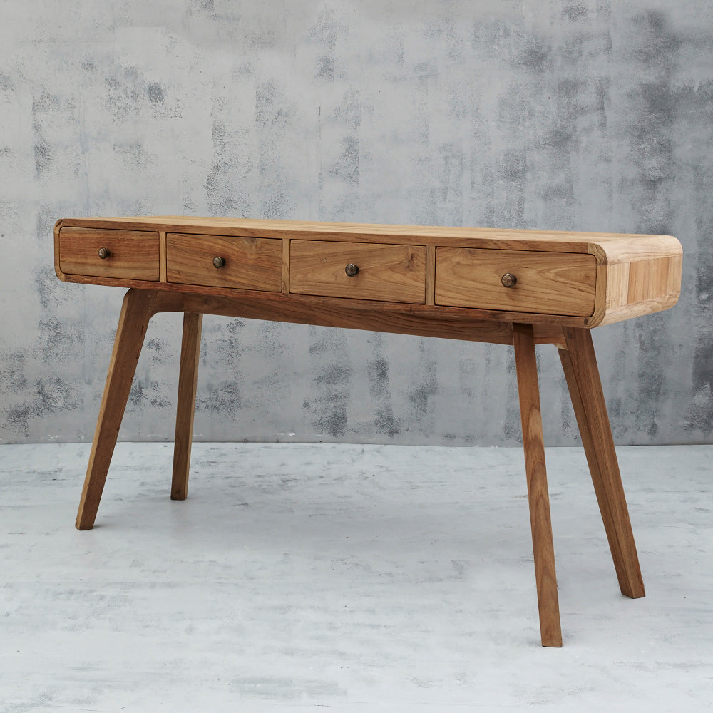 Riia Four Drawer Console/Desk-Find It Style It Home
