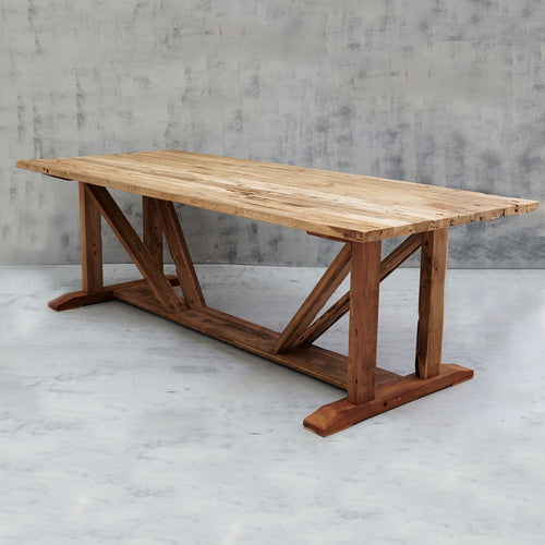 Mandela Large Rustic Table - 2.5m-Find It Style It Home
