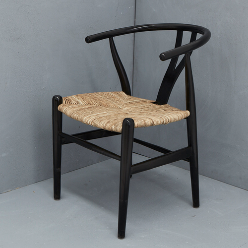 Sarin Dining Chair - Black & Natural