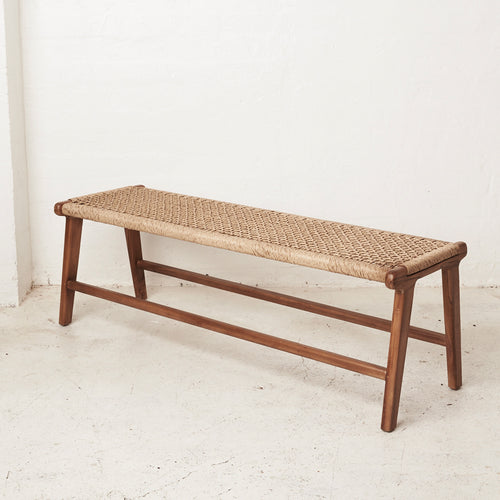 Ayda Woven Outdoor Bench-Find It Style It Home