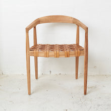 Larah Leather & Teak Dining Chair