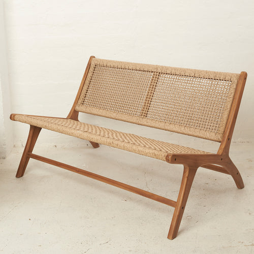 Keta Jute 2 Seater Bench Seat-Find It Style It Home