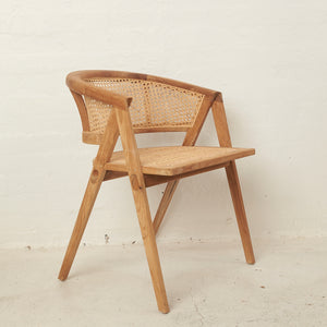Amalia Rattan Rounded Dining Chair