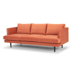 Denmark 3 Seater Fabric Sofa - Dusty Orange