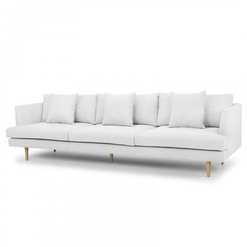 Soho Sofa - 4 Seater Fabric in Light Texture Grey