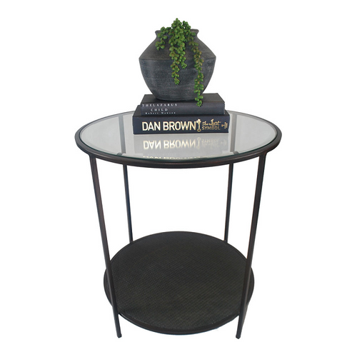 Plantation Side Table- Black