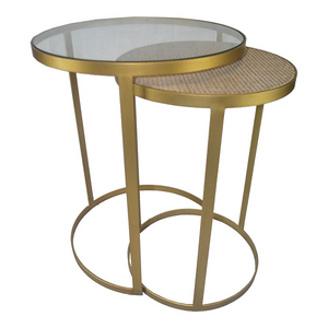 Plantation Side Tables - Brass