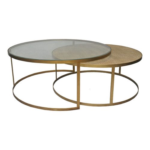 Plantation Coffee Table - Brass