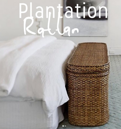 Plantation Rattan Bed End Chest-Find It Style It Home