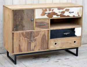 Cow Hide Chest of Drawers