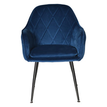 Malta Velvet Dining Chair - Navy-Find It Style It Home