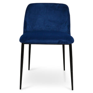 Dining Chair  - Blue Velvet