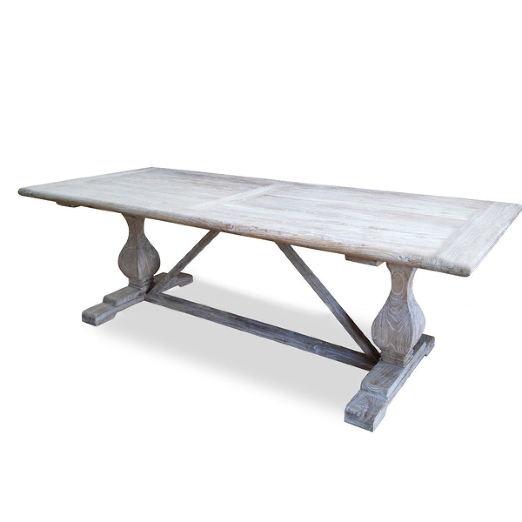 Hamptons Rustic Dining Table 1.98m