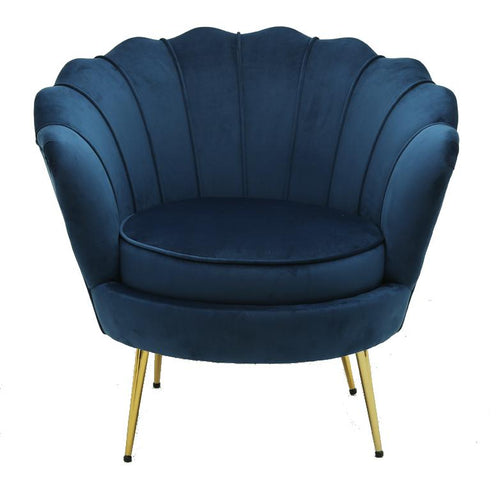 Shell Chair Navy Velvet